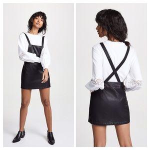 BB Dakota JACK Vegan Leather Pinafore Dress Small